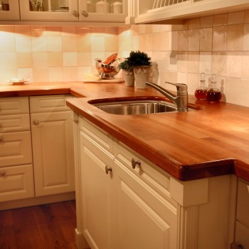 Cherry Countertop with Undermount Sink