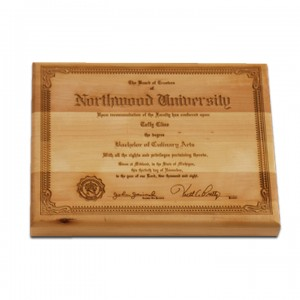Culinary School Diploma Cutting Board