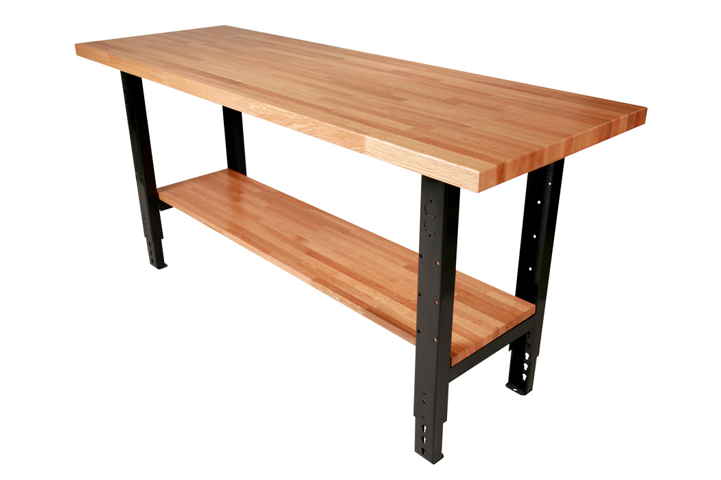 Butcher Block Workbench >> Industrial Workbench Top