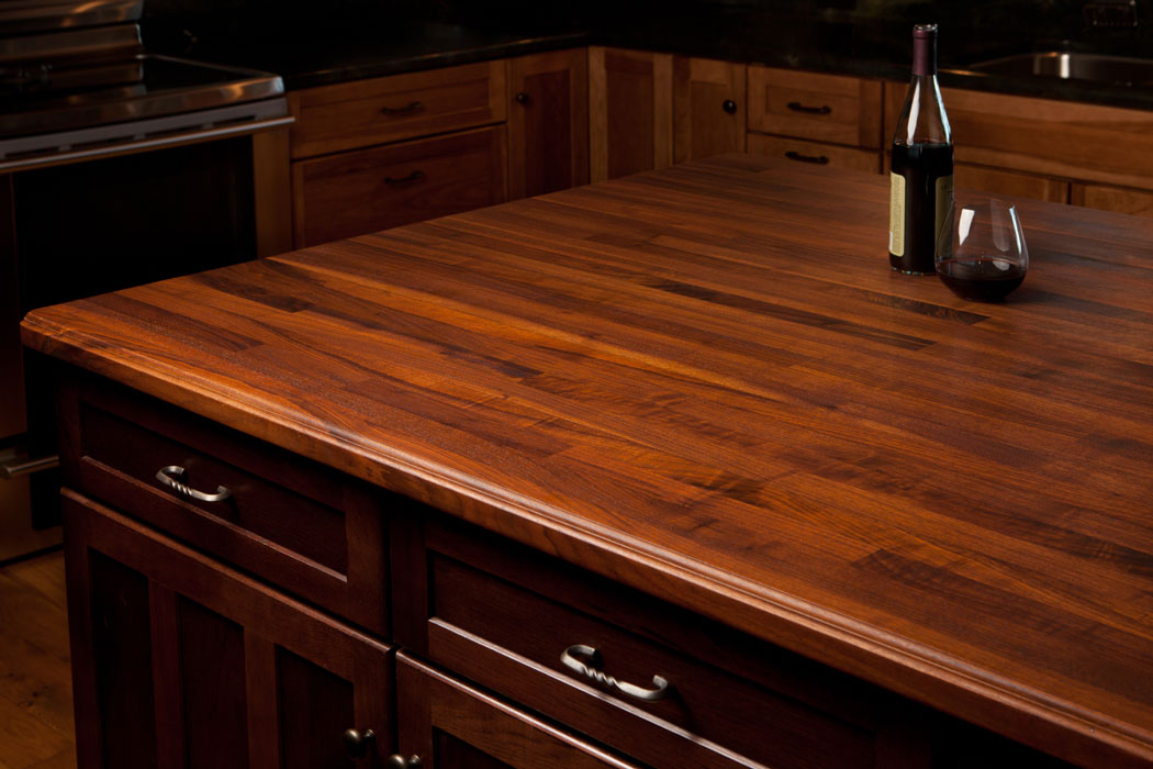 black kitchen island with butcher block top 1 1 2 thick island tops 27673